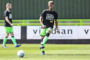 Forest Green Rovers Junior Mondal(25) warming up during the EFL Sky Bet League 2 match between Forest Green Rovers and Cambridge United at the New Lawn, Forest Green, United Kingdom on 22 April 2019.