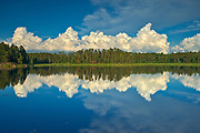 Clouds reflected in Isabel Lake<br />Kenora<br />Ontario<br />Canada