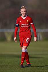 LIVERPOOL, ENGLAND - Sunday, February 4, 2018: Liverpool's Sophie Ingle during the Women's FA Cup 4th Round match between Liverpool FC Ladies and Watford FC Ladies at Walton Hall Park. (Pic by David Rawcliffe/Propaganda)