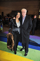 MICHAEL & SHAKIRA CAINE arrive at the press night of the new Andrew Lloyd Webber  musical 'The Wizard of Oz' at The London Palladium, Argylle Street, London on 1st March 2011 followed by an aftershow party at One Marylebone, London NW1