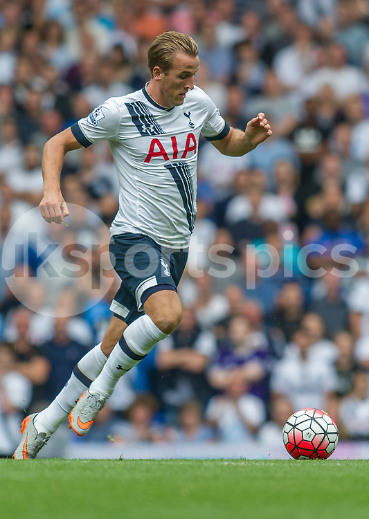 Harry Kane of Tottenham Hotspur in action during the Barclays Premier League match between Tottenham Hotspur and Stoke City at White Hart Lane, London, England on 15 August 2015. Photo by Vince  Mignott.