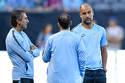 "July 19, 2018 - Chicago, IL, U.S. - CHICAGO, IL - JULY 19: Manchester City head coach Josep ""Pep"" Guardiola looks on during Manchester City's practice session ahead of the International Champions Cup match between Manchester City and Borussia Dortmund on July 19, 2018 held at Soldier Field in Chicago, Illinois. (Photo by Robin Alam/Icon Sportswire) (Credit Image: © Robin Alam/Icon SMI via ZUMA Press)"