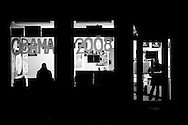 An Obama campaign office is seen after dark in Portsmouth, NH, on Saturday, Dec. 29, 2007.