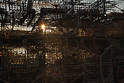 Lobster traps at sunrise in Stonington, Maine