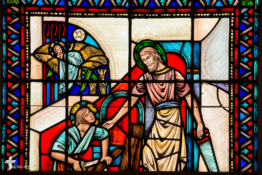 Stained glass at Christ Chapel on the campus of Concordia College Alabama on Wednesday, August 20, 2014, in Selma, Ala.  LCMS Communications/Erik M. Lunsford