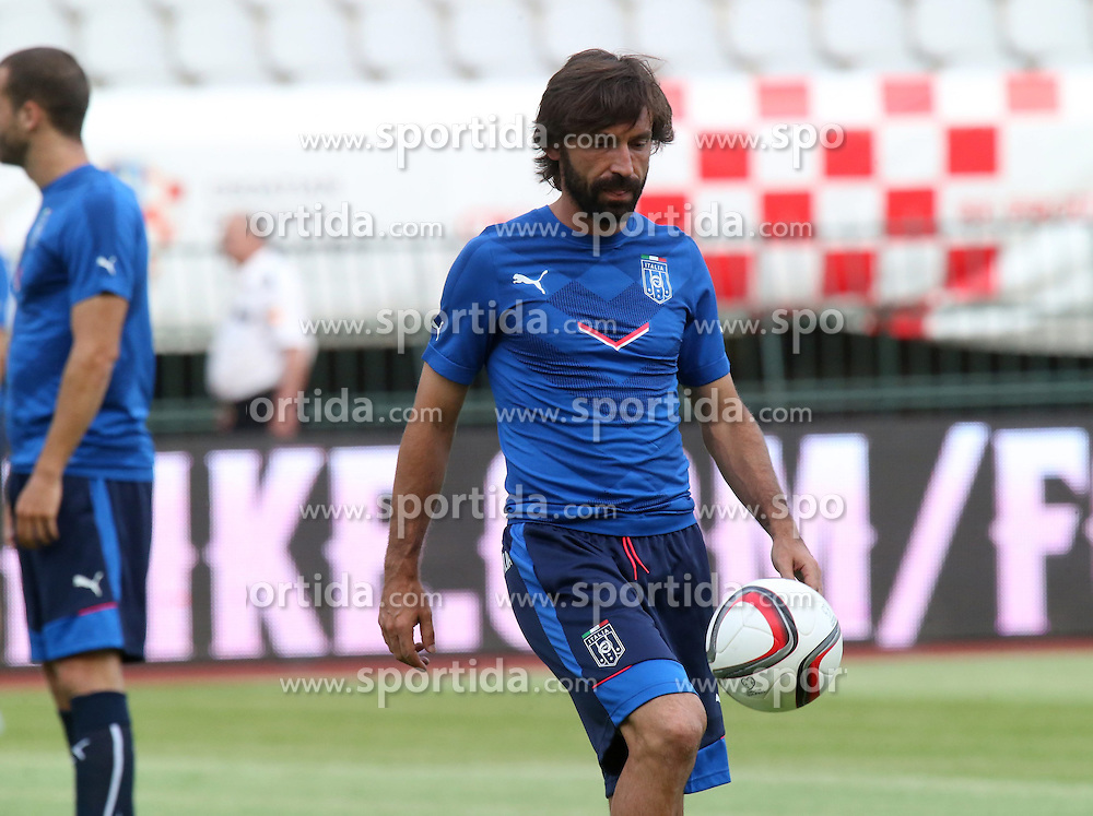 11.06.2015, Stadion Poljud, Split, CRO, UEFA Euro 2016 Qualifikation, Kroatien vs Italien, Gruppe H, Training Italien, im Bild Andrea Pirlo // during training of Team Italy prior to the UEFA EURO 2016 qualifier group H match between Croatia and and Italy at the Stadion Poljud in Split, Croatia on 2015/06/11. EXPA Pictures &copy; 2015, PhotoCredit: EXPA/ Pixsell/ Ivo Cagalj<br /> <br /> *****ATTENTION - for AUT, SLO, SUI, SWE, ITA, FRA only*****