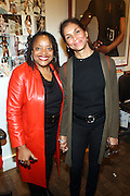 l to r: Deb Willis and Jean Mountassamy-Ashe at The Opening for Deb Willis' new book ' Posen Beauty ' held at NYU Tisch School of the Arts on October 8, 2009 in New york City..