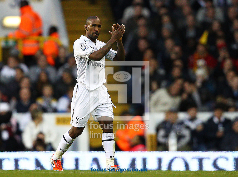 Picture by Paul Terry/Focus Images Ltd +44 7545 642257.03/11/2012.Jermain Defoe of Tottenham Hotspur is substituted during the Barclays Premier League match at White Hart Lane, London.