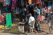 Tailor on the street of Shahpura, Madhya Pradesh, india.