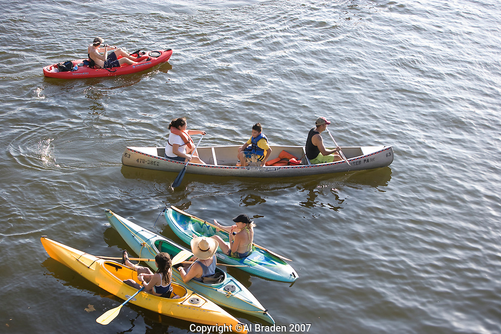 Boating on Lady Bird Lake, Austin, Texas