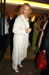 HRH PRINCESS MICHAEL OF KENT at a party to celebrate the publication of 'Made for Maharajas' by Dr Amin Jaffer hosted by Louis Vuitton at their store on Sloane Street, London on 10th October 2006.<br /><br />NON EXCLUSIVE - WORLD RIGHTS