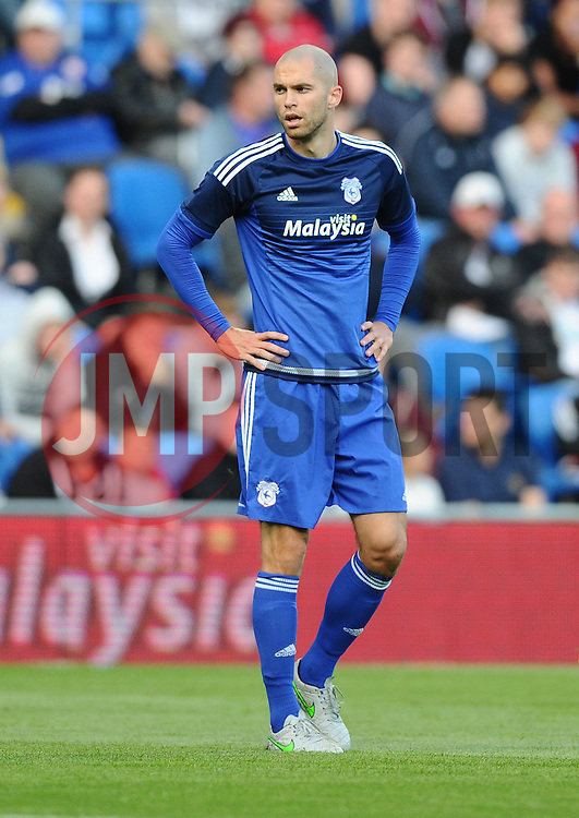 Matthew Connolly of Cardiff City  - Mandatory by-line: Joe Meredith/JMP - 07966386802 - 28/07/2015 - SPORT - FOOTBALL - Cardiff,Wales - Cardiff City Stadium - Cardiff City v Watford - Pre-Season Friendly