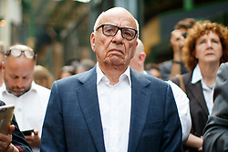© Licensed to London News Pictures. 14/06/2017. London, UK. Owner of News Corp UK, RUPERT MURDOCH attends the reopening of Borough Market in London as it reopens on 14 June 2017, following a terror attack that killed 8 people over a week ago. Photo credit: Tolga Akmen/LNP