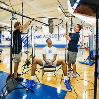 BRADENTON, FL -- June 4, 2016 -- Skal Labissière, a former Haitian basketball and soccer players who played for the University of Kentucky meets with The Players' Tribune as he prepares for the NBA draft at IMG Academy in Bradenton, Florida. (PHOTO / CHIP LITHERLAND)