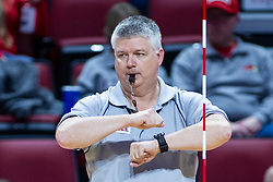 BLOOMINGTON, IL - November 22: Jerry Moews during a college Women's volleyball match between the ISU Redbirds and the Sycamores of Indiana State on November 22 2019 at Illinois State University in Normal, IL. (Photo by Alan Look)
