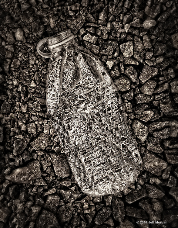 Abandoned water bottle