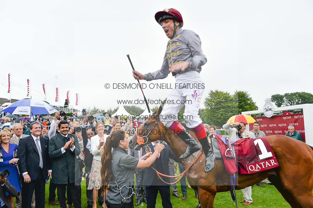 FRANKIE DETTORI riding Mehmas winner of the Qatar Richmond Stakes at day 3 of the Qatar Glorious Goodwood Festival at Goodwood Racecourse, Chechester, West Sussex on 28th July 2016.