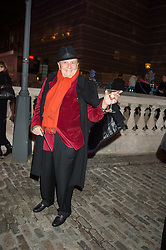 BARRY HUMPHRIES at the launch of Skate at Somerset House in association with Fortnum & Mason held at Somerset House, The Strand, London on 17th November 2015.