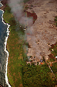 Lava flowing into Kalapana, Kilauea Volcano, Island of Hawaii