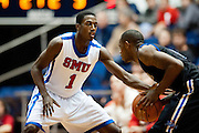 DALLAS, TX - JANUARY 6:  Ryan Manuel #1 of the SMU Mustangs defends against the Tulsa Golden Hurricane on January 6, 2013 at Moody Coliseum in Dallas, Texas.  (Photo by Cooper Neill/Getty Images) *** Local Caption *** Ryan Manuel