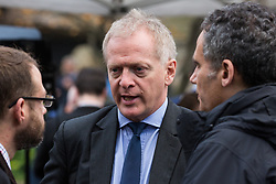 London, UK. 15th November, 2018. Dr Phillip Lee, Conservative MP for Bracknell, appears on College Green in Westminster following the Cabinet resignations of Brexit Secretary Dominic Raab and Work and Pensions Secretary Esther McVey the day after Prime Minister gained Cabinet approval of a draft of the final Brexit agreement