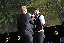 © Licensed to London News Pictures. 13/07/2014, UK. Ronan Keating & Shane Lynch. Boyzone, play British Summer Time at Hyde Park, London UK, 13 July 2014. Photo credit : Brett D. Cove/Piqtured/LNP