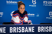 Madison Keys of the United States talks to the media after losing the final of the 2020 Brisbane International WTA Premier tennis tournament - Photo Rob Prange / Spain ProSportsImages / DPPI / ProSportsImages / DPPI