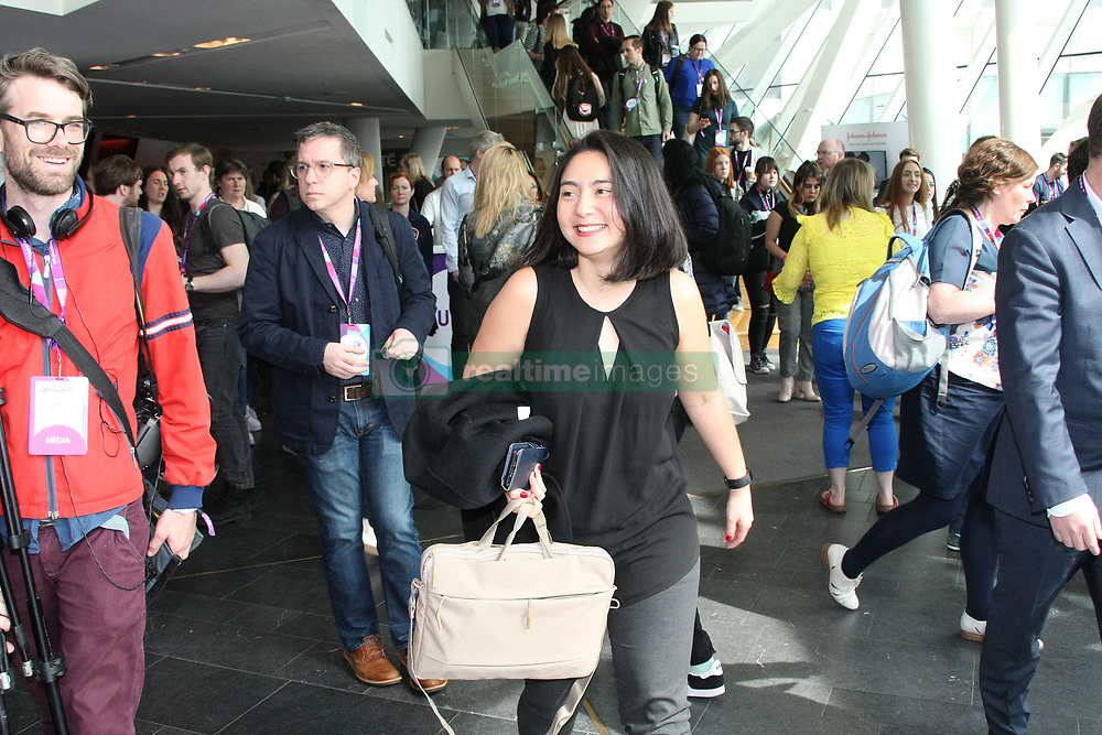 Theranos whistleblower, Erika Cheung speaks at Inspirefest in Dublin, Ireland. 16 May 2019 Pictured: Erika Cheung. Photo credit: Mark D / MEGA TheMegaAgency.com +1 888 505 6342