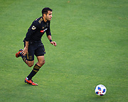 Los Angeles FC defender Steven Beitashour (3) during a MLS soccer match in the inaugural game at Banc of California Stadium in Los Angeles, Sunday, April 29, 2018. LAFC defeated the Sounders 1-0. (Eddie Ruvalcaba/mage of Sport)