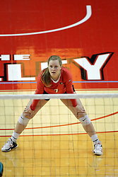 23 September 2017:  Kendal Meier during a college women's volleyball match between the Salukis of Southern Illinois and the Illinois State Redbirds at Redbird Arena in Normal IL (Photo by Alan Look)