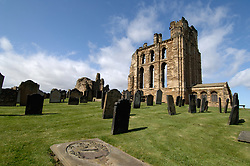 Tynemouth Priory ruins; part of English Heritage; stands at mouth of River Tyne, Was a Benedictine monastery UK