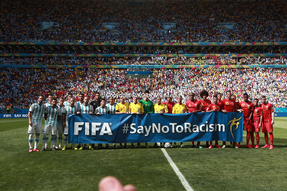 Fifa Soccer World Cup - Brazil 2014 - <br /> ARGENTINA (ARG) Vs. BELGIUM (BEL) - Quarter-finals - Estadio Nacional Brasilia -- Brazil (BRA) - 05 July 2014 <br /> Here Argentine player /arg/ () and Belgian player  /bel/ ()<br /> &copy; PikoPress