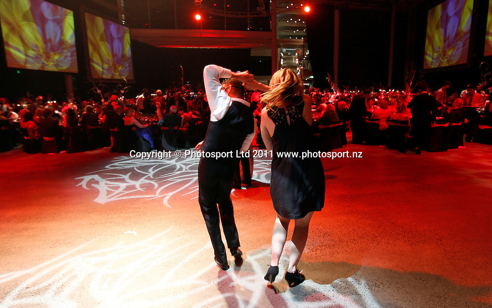 Guests dance during the Mayoress' Charity Gala Ball, Viaduct Events Centre, Auckland, New Zealand.  Saturday 19 November 2011 . Photo: Simon Watts / photosport.co.nz
