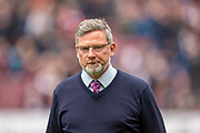 Heart of Midlothian manager Craig Levein before the Ladbrokes Scottish Premiership match between Heart of Midlothian and Kilmarnock at Tynecastle Stadium, Gorgie, Scotland on 4 May 2019.