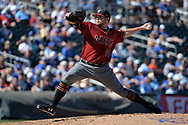 SURPRISE, AZ - MARCH 06:  Andrew Chafin #40 of the Arizona Diamondbacks delivers a pitch in the fifth inning of the spring training game against the Kansas City Royals  at Surprise Stadium on March 6, 2017 in Surprise, Arizona.  (Photo by Jennifer Stewart/Getty Images)