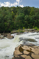 Ohiopyle Falls of the Youghiogheny River. Ohiopyle State Park, Pennsylvania.