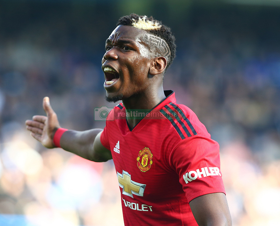 October 20, 2018 - London, England, United Kingdom - London, England - October 20: 2018.Manchester United's Paul Pogba.during Premier League between Chelsea and Manchester United at Stamford Bridge stadium , London, England on 20 Oct 2018. (Credit Image: © Action Foto Sport/NurPhoto via ZUMA Press)