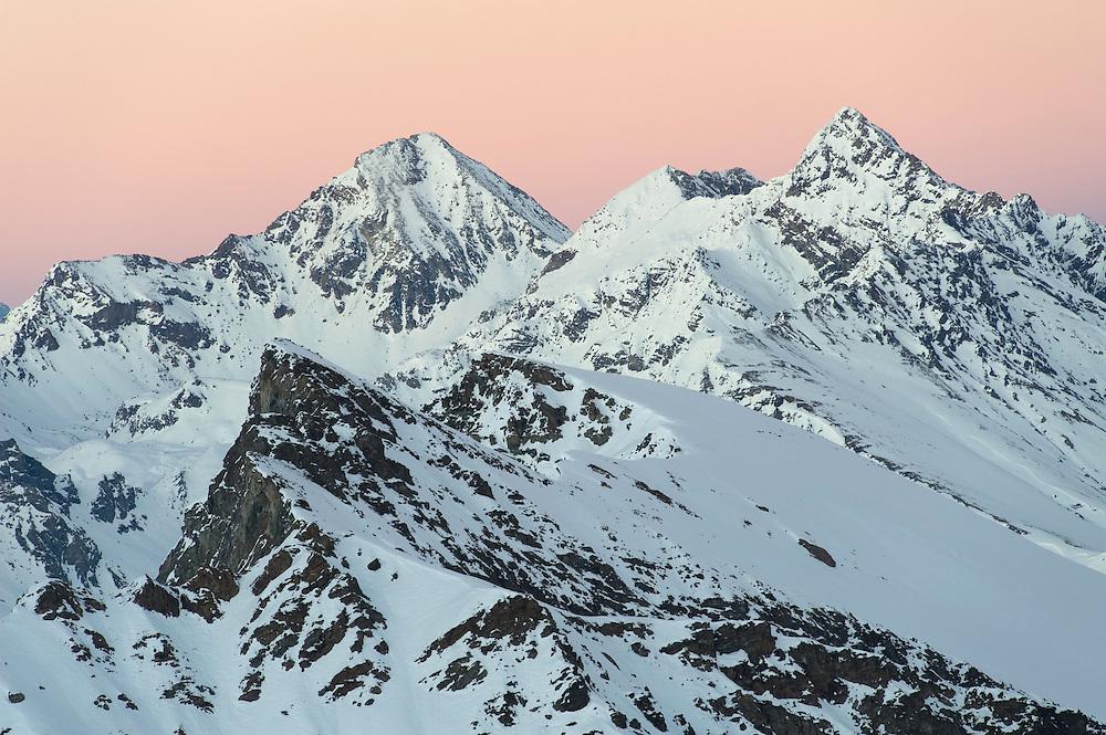 15.11.2008.Alpine landscape at sunset..Gran Paradiso National Park, Italy