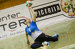 Jana Ferjan of Slovenia during friendly Sitting Volleyball match between National teams of Slovenia and China, on October 22, 2017 in Sempeter pri Zalcu, Slovenia. (Photo by Vid Ponikvar / Sportida)