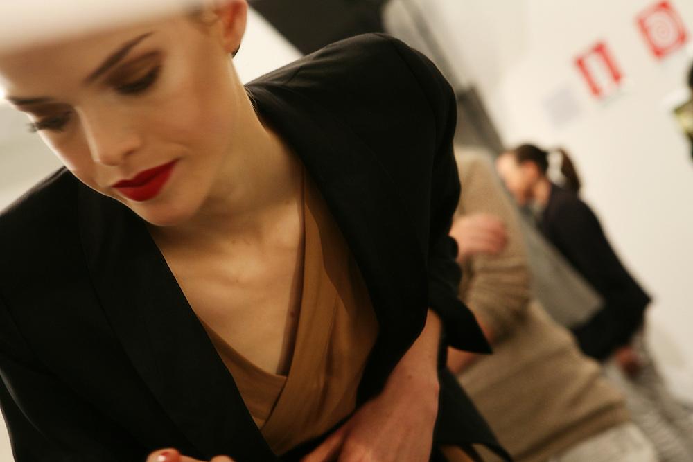 Milan, Italy, September 22, 2010. Backstage at Gucci during the Milan Women's Fashion Week Spring/Summer 2011.