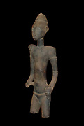 Intermediary figure in wood. Used as a go-between  to link people to forces in nature and as a way of prevventing infertility and disease. Baule Tribe, Ivory Coast, Africa. 20th Century