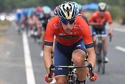 October 11, 2018 - Marmaris, Turkey - David Per of Slovenia from Bahrain - Merida Team leads the peloton during the third stage - the Troy Stage 137.2km Fethiye - Marmaris, of the 54th Presidential Cycling Tour of Turkey 2018. .On Thursday, October 11, 2018, in Marmaris, Turkey. (Credit Image: © Artur Widak/NurPhoto via ZUMA Press)