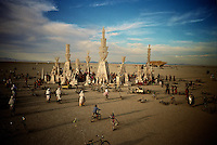 temple at Burning Man Festival.