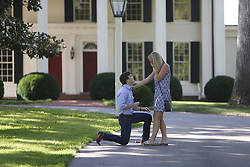 Caitlin Bryson proposed to by Austin Schile, Saturday, Aug. 01, 2015 at Keeneland Racecourse in Lexington.