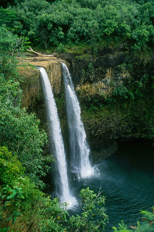 Waterfalls at Wailua Falls State Park; Kauai, Hawaii.