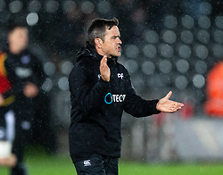 Head Coach Allen Clarke of Ospreys during the pre match warm up<br /> <br /> Photographer Simon King/Replay Images<br /> <br /> Guinness PRO14 Round 6 - Ospreys v Connacht - Saturday 2nd November 2019 - Liberty Stadium - Swansea<br /> <br /> World Copyright © Replay Images . All rights reserved. info@replayimages.co.uk - http://replayimages.co.uk