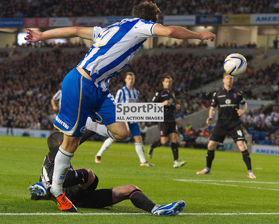 BRIGHTON. UK. 29/09/2012. Brighton and Hove Albion's Will Buckley at the match between Brighton and  Hove Albion FC and Birmingham City FC held at the American Express Community Stadium Falmer. © Peter Webb | STOCKPIX.EU. Photo credit: Peter Webb | STOCKPIX.EU