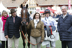 October 28, 2017 - Compiegne, France, France - Course 4 - The Stomp - David Gallon - Francois Nicolle - Jean Claude Rouget (Credit Image: © Panoramic via ZUMA Press)