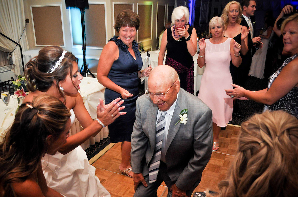 Michelle's grandfather cuts a rug at St. Charles Country Club, St. Charles, IL
