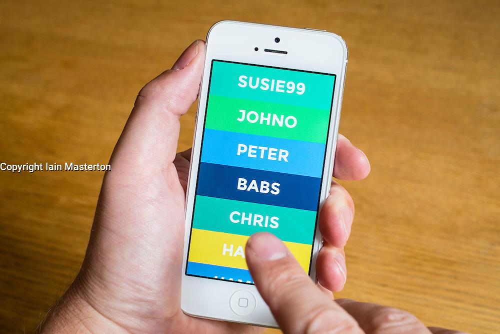 Yo social media app on iPhone smart phone homescreen